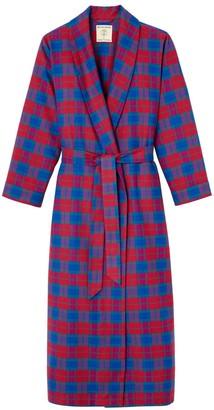 British Boxers Women's Bordeaux Brushed Cotton Dressing Gown