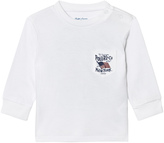 Ralph Lauren White US Graphic Long Sleeve T-Shirt