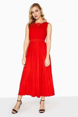 Little Mistress Lottie Applique Pleated Dress