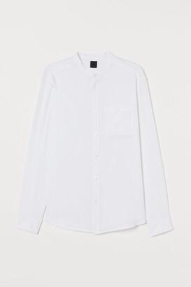 H&M Regular Fit Collarless Shirt