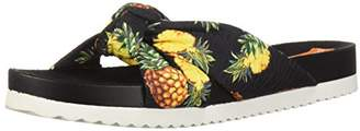 Rocket Dog Women's Loving Pineapple Pen Fabric Slide Sandal
