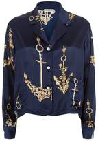 Natasha Zinko Silk Anchor Printed Shirt