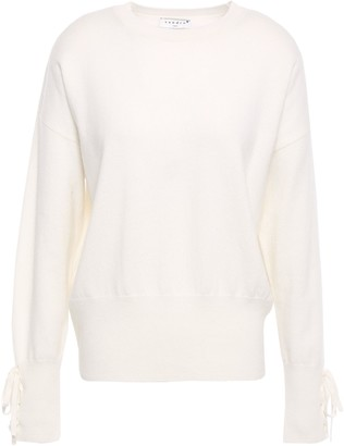 Sandro Bow-detailed Wool And Cashmere-blend Sweater