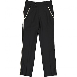 Marc by Marc Jacobs Black Wool Trousers