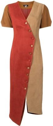 CLAN Asymmetrical Colour-Block Dress