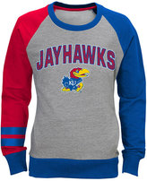adidas Girls' Kansas Jayhawks Crew Fleece Sweatshirt