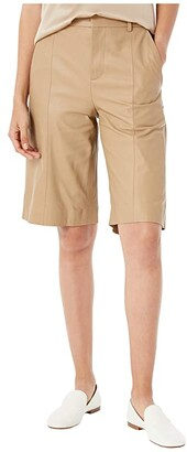 Vince Leather Shorts (Khaki) Women's Shorts