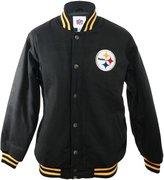 NFL Pittsburgh Steelers Winter Wool Jacket - Black