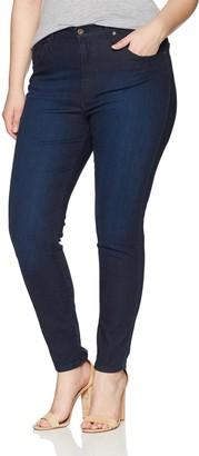 James Jeans Women's Plus Size High Rise Skinny Jean in Deep End 10W