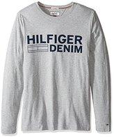 Tommy Hilfiger Men's Basic Crew Neck Long Sleeve Logo T-Shirt
