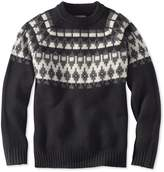 L.L. Bean L.L.Bean Signature Slopeside Sweater, Crew Fair Isle