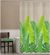 Bed Bath & Beyond PEVA Tropical Leaf Shower Curtain