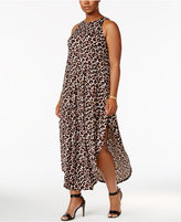 Love Squared Trendy Plus Size Animal-Print Maxi Dress