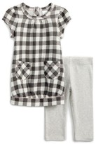 Nordstrom Infant Girl's Check Print Dress & Solid Leggings Set