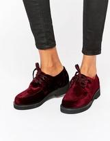 Asos MALONE Velvet Flat Shoes