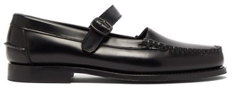 Hereu Blanquer Mary-jane Leather Loafers - Womens - Black