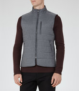 Reiss Reiss House - Quilted Gilet In Blue