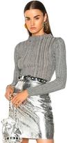 Proenza Schouler Lurex Turtleneck Sweater in Gray,Metallics.