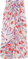 Emilio Pucci Ranuncoli Printed Cotton-voile Maxi Skirt - Bubblegum