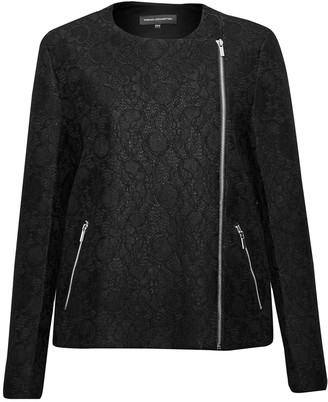 French Connection Delunay Lace Stretch Biker Jacket