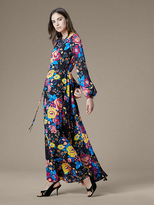 Diane von Furstenberg Crew Neck Floor Length Dress
