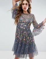 Needle & Thread Needle and Thread Garden Mini Dress with Dragonfly Embellishment