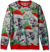 Hybrid Men's A Over Santa Kittens Hoiday Puover