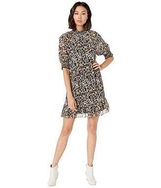 Kensie Ink Splot Short Sleeve Dress KS8K8403