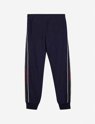 Alexander McQueen Elasticated-waistband logo-tape stretch-jersey jogging bottoms