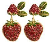 Dolce & Gabbana Strawberry Drop Clip-On Earrings