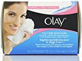 Olay 4-in-1 Daily Facial Cloths, Normal Skin 33 ea (Pack of 12)
