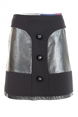 Emilio Pucci Black Leather Skirt for Women Vintage