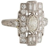 Ring Platinum Art Deco Diamond