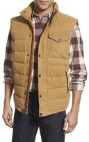 Timberland 'Mt. Davies' Water Resistant Waxed Canvas Down Vest