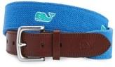 Vineyard Vines Whale Embroidered Belt