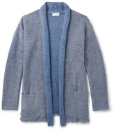 John Elliott - Shawl-Collar Mélange Linen and Cotton-Blend Cardigan