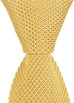Roundtree & Yorke Solid With Contrasting Tip Knit Skinny Tie