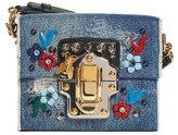 Dolce & Gabbana Embellished Denim Crossbody Bag - Blue