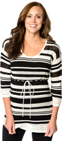 Motherhood Striped Babydoll Maternity Sweater