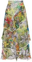 Peter Pilotto Printed Frill Skirt