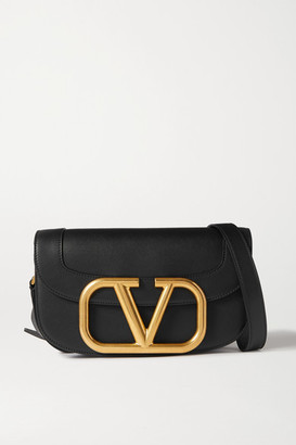 Valentino Garavani Supervee Leather Shoulder Bag - Black