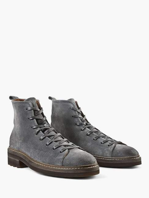 John Varvatos Essex Suede Trooper Boot
