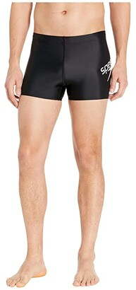 Speedo Logo Square Leg Black) Men's Swimwear