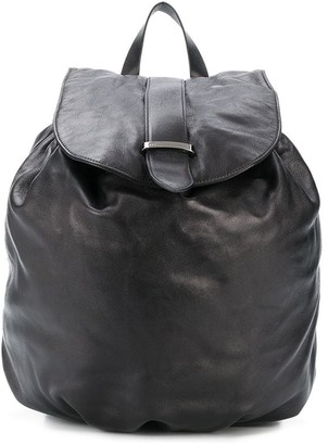 Brunello Cucinelli Drawstring Leather Backpack