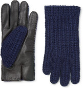 Oliver Spencer - + Monocle Wool-blend And Leather Gloves