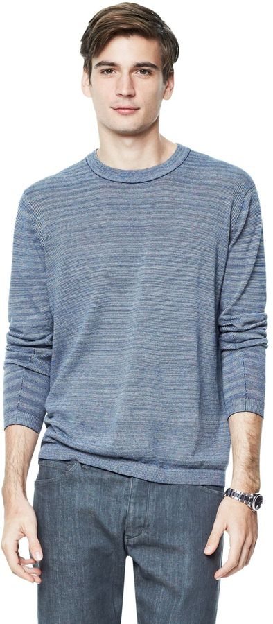 Theory Artur E Sweater in Emission Cotton Blend