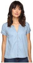 Calvin Klein Jeans Indigo V Popover Short Sleeve Woven Shirt