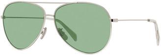 Celine Avant Premiere Glitter Aviator Sunglasses