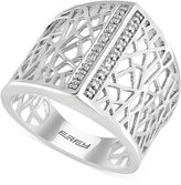 Effy Geo by Diamond Accent Openwork Ring in Sterling Silver