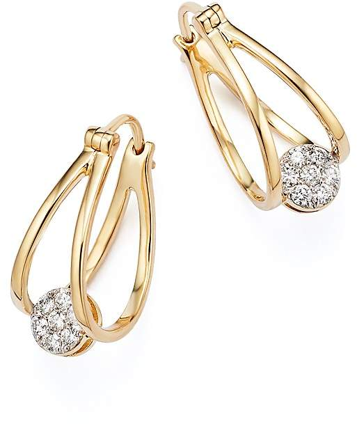 Bloomingdale's Diamond Huggie Hoop Earrings in 14K Yellow Gold, .25 ct. t.w.